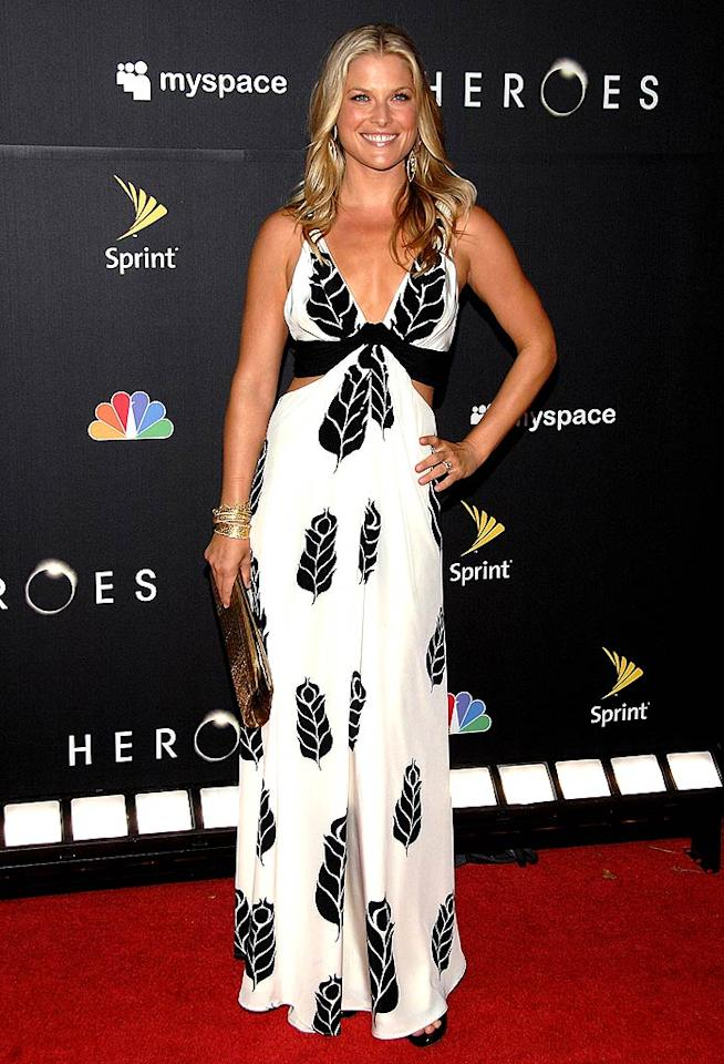 """Heroes"" hottie Ali Larter was all smiles in a summery black and white maxidress at her show's premiere party in downtown LA. Jean-Paul Aussenard/<a href=""http://www.wireimage.com"" target=""new"">WireImage.com</a> - September 7, 2008"