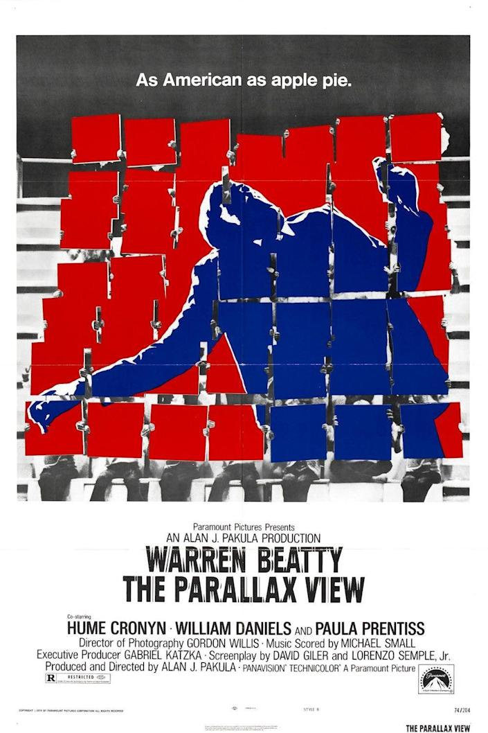The poster for 1974's The Parallax View.