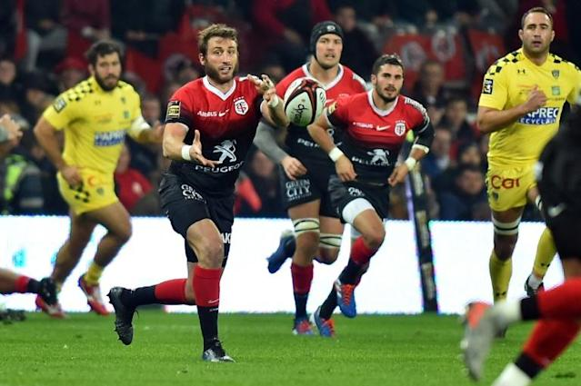 Toulouse's Maxime Medard was one of four France Rugby World Cup squad members to score as his side beat Clermont (AFP Photo/REMY GABALDA)