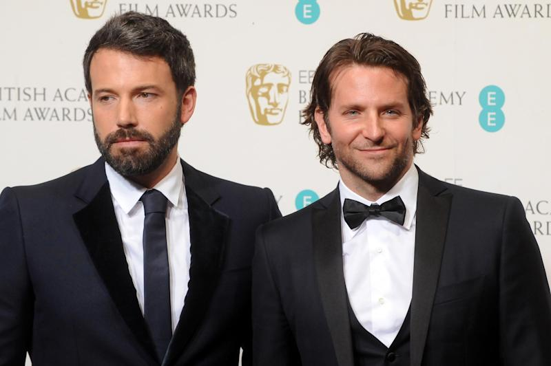 Ben Affleck with Bradley Cooper at the BAFTAs (Getty Images)