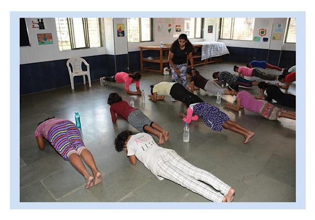 Women at Prerana in fitness training. (Photo: Courtesy of Ramona Braganza)