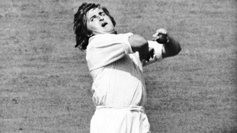 Gary Gilmour in action during the 1975 Cricket World Cup