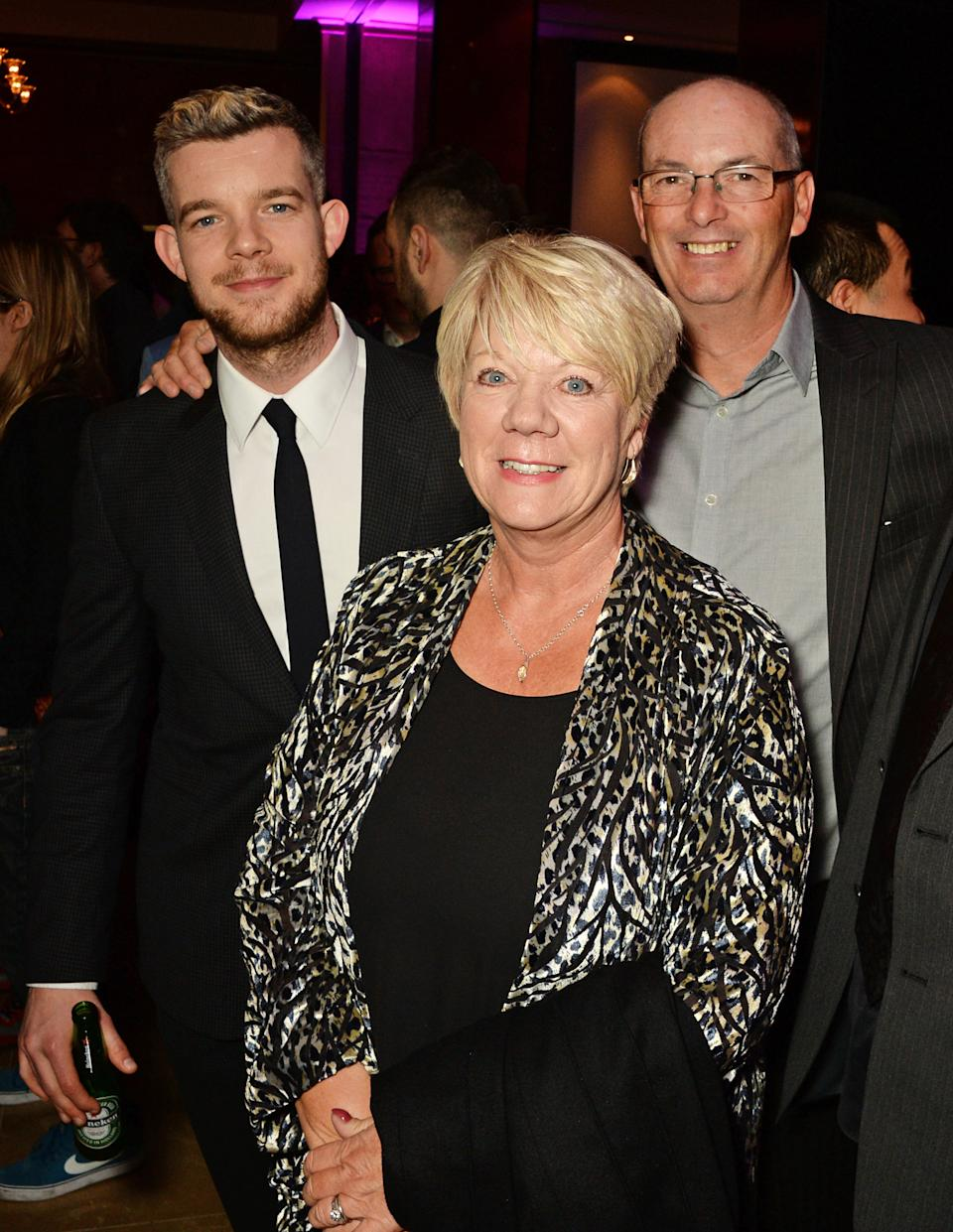 Russell Tovey, mother Carole Haynes and father George Tovey attend the after party following the UK Premiere of