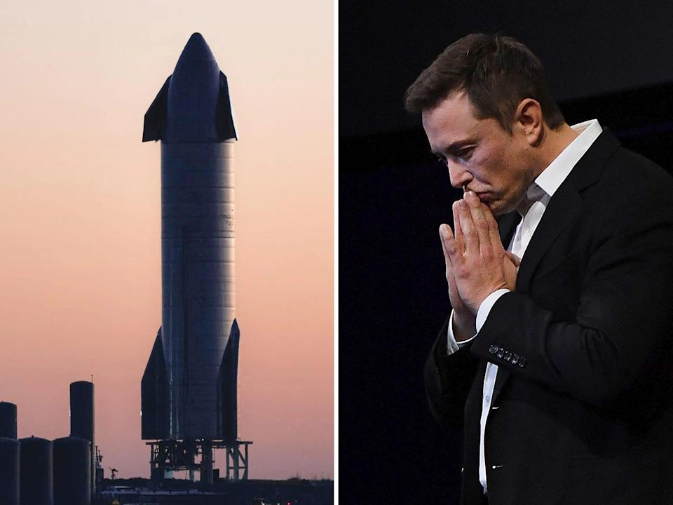 elon musk spacex starship sn8 serial number 8 steel rocket ship prototype boca chica south texas sunset sunrise getty 4x3