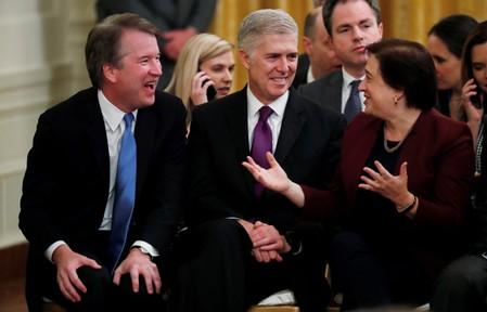 FILE PHOTO: U.S. Supreme Court Associate Justices Kavanaugh, Gorsuch and Kagan attend Presidential Medal of Freedom ceremony in Washington