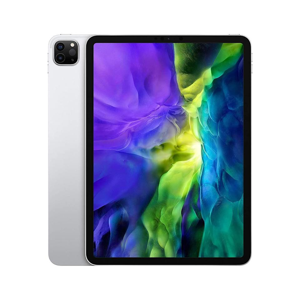 """<p><strong>Apple</strong></p><p>amazon.com</p><p><a href=""""https://www.amazon.com/dp/B0863BW6YD?tag=syn-yahoo-20&ascsubtag=%5Bartid%7C10056.g.36788447%5Bsrc%7Cyahoo-us"""" rel=""""nofollow noopener"""" target=""""_blank"""" data-ylk=""""slk:Shop Now"""" class=""""link rapid-noclick-resp"""">Shop Now</a></p><p><del>$949.00</del> $879.00 <strong>(7% off)</strong></p><p>It's got all the gimmicks you love that come with your laptop, but none of the bulkiness or heaviness to haul it around. With 10-hours of battery life, you'll be unstoppable with this device. </p>"""