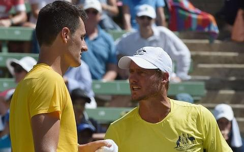 <span>Hewitt says Tomic has fallen short of the 'cultural standards' expected of Australia's tennis players</span> <span>Credit: AFP </span>