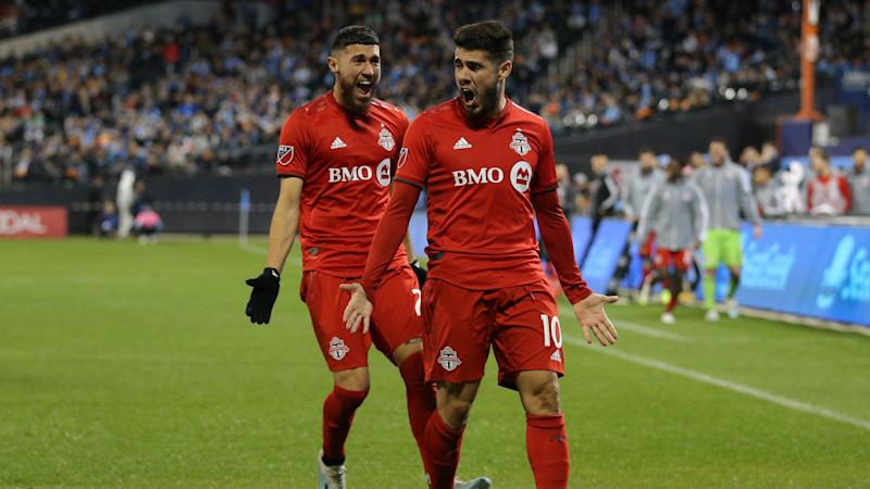 Toronto FC's Alejandro Pozuelo led his team past New York City FC to advance in the MLS Cup Playoffs. (Brad Penner-USA TODAY Sports)