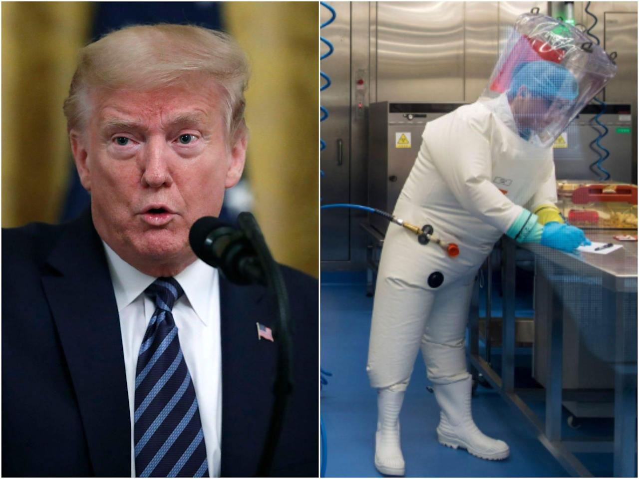 Intelligence officials and disease experts are shooting down Trump's claim that the US has good reason to believe the coronavirus originated in a Wuhan lab