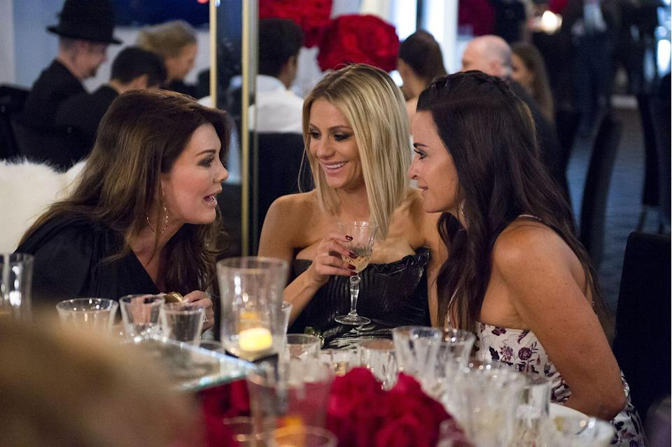 """<p>Don't be fooled, these women aren't just rolling into restaurants and asking for a table for three with a camera crew in tow. It's the production team's job to <a href=""""https://www.bravotv.com/the-real-housewives-of-beverly-hills/season-2/blogs/be-prepared"""" rel=""""nofollow noopener"""" target=""""_blank"""" data-ylk=""""slk:secure permission to film"""" class=""""link rapid-noclick-resp"""">secure permission to film</a> at all the locations <em>before</em> filming. </p>"""