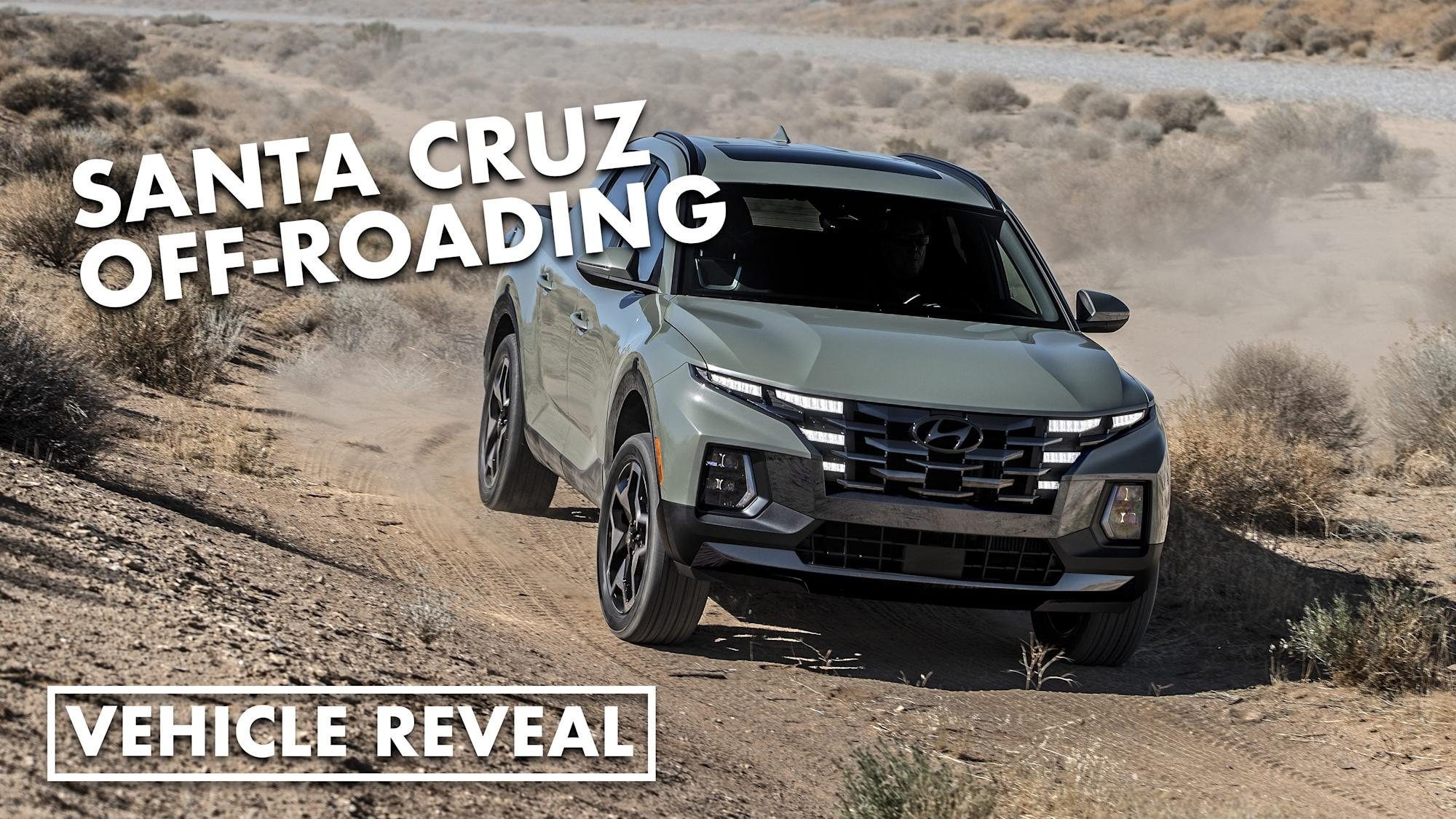 Off-roading footage of the 2022 Hyundai Santa Cruz