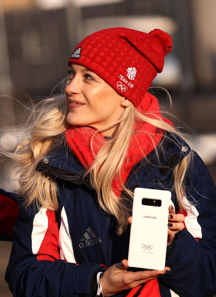<p>Elise Christie of Team GB looks on during the Team GB Team Welcome Ceremony during previews ahead of the PyeongChang 2018 Winter Olympic Games at PyeongChang Olympic Village on February 8, 2018 in Pyeongchang-gun, South Korea. (Photo by Ryan Pierse/Getty Images) </p>