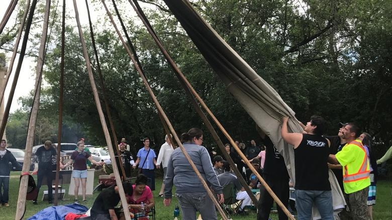'This is my life': Grieving mother hopes teepee remains at Sask. legislature