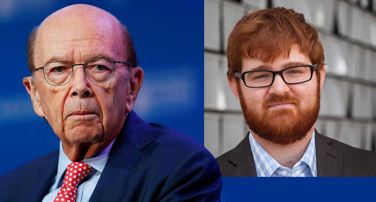 Wilbur Ross and Charles C. Johnson (Photos: Mike Blake/Reuters, Twitter)