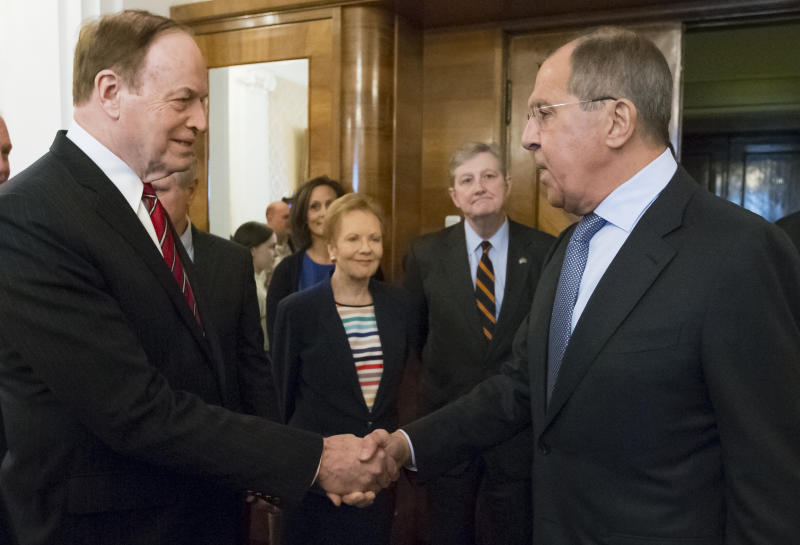 Russia's Lavrov hopes visiting US lawmakers will help mend ties