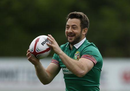 Britain Rugby Union - British & Irish Lions Training & Press Conference - WRU National Centre of Excellence, Vale of Glamorgan, Wales - 15/5/17 Greig Laidlaw during training Action Images via Reuters / Andrew Boyers