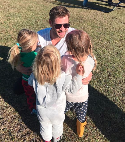 Chris and Elsa have three children together, five-year-old daughter India Rose and three-year-old twins, Sasha and Tristan. Source: Instagram / @elsapatakyconfidential