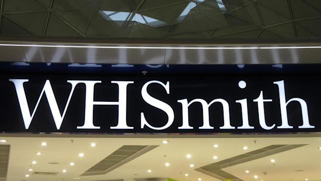 A WH Smith logo seen at a store in London's Stansted Airport. (Keith Mayhew/SOPA Images/LightRocket via Getty Images)