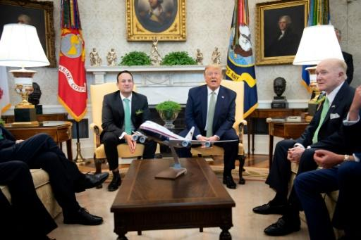 Ireland's Prime Minister Leo Varadkar and US President Donald Trump talked but there was no shaking of hands
