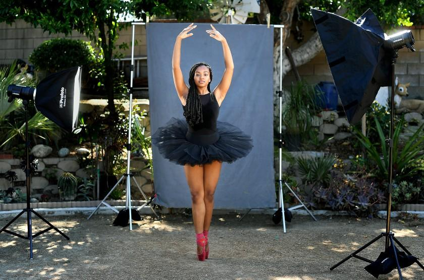 "Arianna Carson, who plans to study dance at SUNY Purchase in the fall, is photographed near her home in Rowland Heights on July 6, 2020. <span class=""copyright"">(Christina House / Los Angeles Times)</span>"