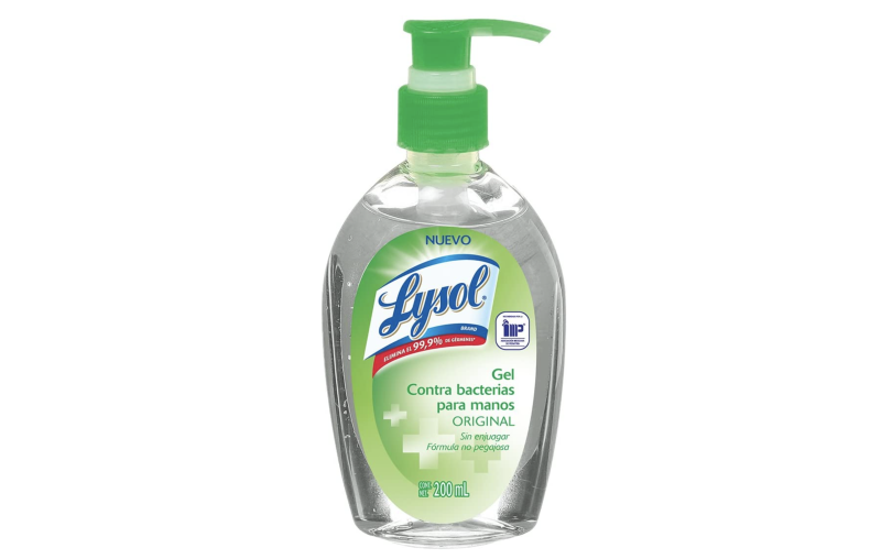 Lysol Gel Contra Bacterias Para Manos, 200 ml. Foto: amazon.com.mx