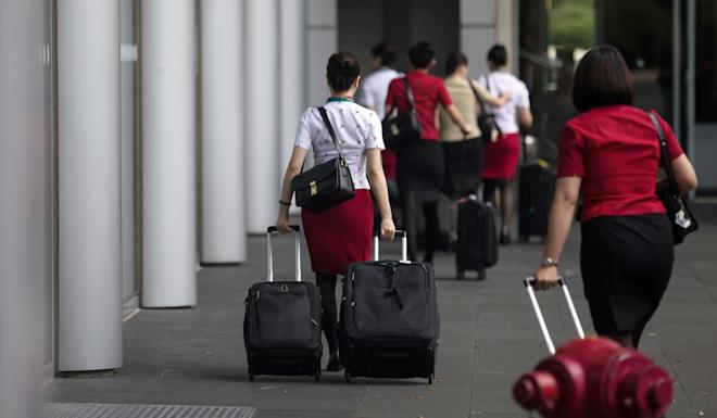 Between August and October, passenger traffic at Hong Kong airport had fallen 2.3 million compared with the same period last year. Photo: Bloomberg