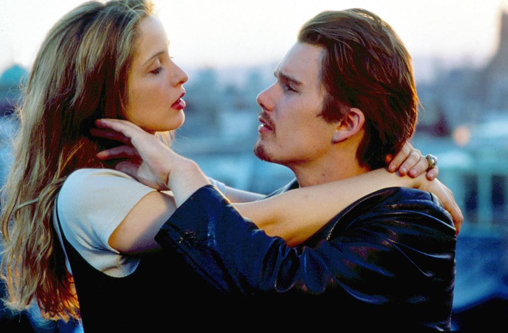 """<a href=""""http://movies.yahoo.com/movie/before-sunrise/"""">BEFORE SUNRISE</a> <br>Directed by: Richard Linklater<br>Starring: Ethan Hawke, Julie Delpy"""