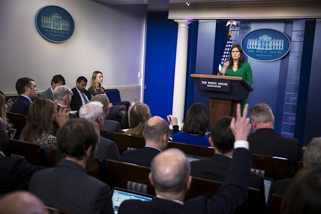 Sarah Sanders regularly faces the White House press corps to answer questions. (Photo: Getty Images)