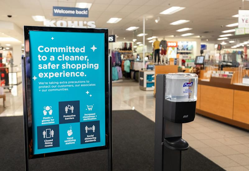 Kohl's says it has made enhancements to the store environment and operations to provide a safe and healthy environment for everyone.