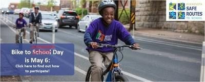 Minnesota Safe Routes to School has transformed Bike to School Day into Bike to Anywhere Day, which will take place on May 6.