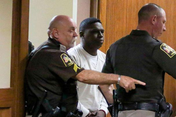 PHOTO: Ibrahim Yazeed, center, appears in court for a hearing on the disappearance of college student Aniah Blanchard, on Wednesday, Nov. 20, 2019 in Opelika, Ala. (Hannah Lester/AP)