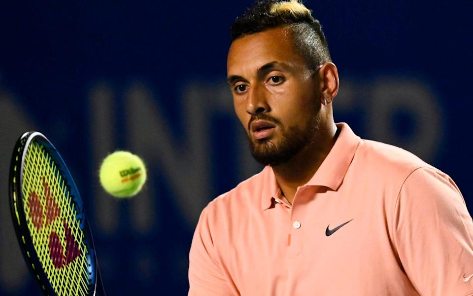Australian Nick Kyrgios is concerned about the pandemic - PEDRO PARDO/AFP