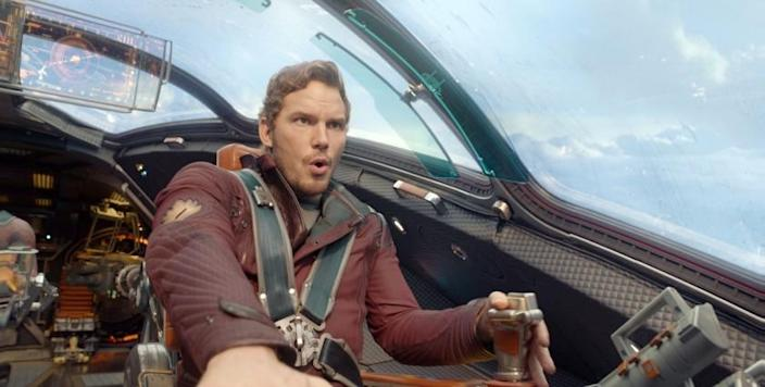Scene from the movie Marvel's Guardians Of The Galaxy Peter Quill/Star-Lord (Chris Pratt) Ph: Film Frame ©Marvel 2014