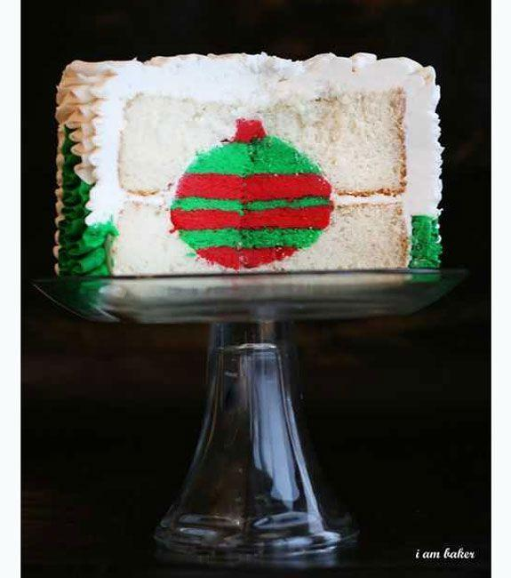 """<p>Beautiful on the outside, and filled with seriously cute surprise in the center. </p><p>Get the recipe from <a href=""""http://iambaker.net/christmas-tree-cake-surprise-inside-cake/"""" rel=""""nofollow noopener"""" target=""""_blank"""" data-ylk=""""slk:i am baker"""" class=""""link rapid-noclick-resp"""">i am baker</a>.</p>"""