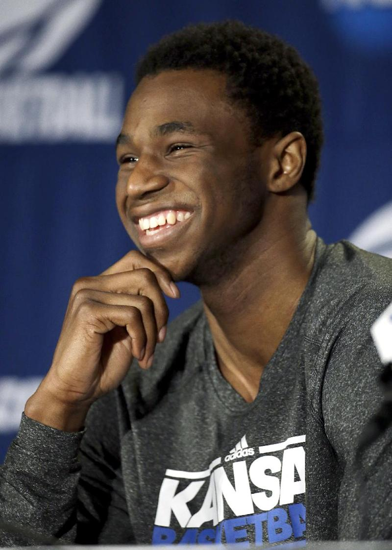 Jayhawks' Wiggins off to NBA after freshman season