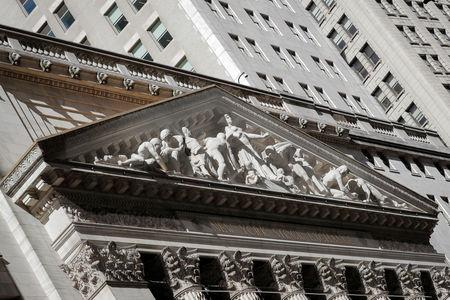 The Facade of the NYSE is seen in New York