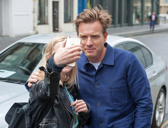 Ewan McGregor says his move from London to LA was partly down to the fact that he couldn't walk around the city without someone asking him for a selfie. (Photo by Roberto Ricciuti/Getty Images)
