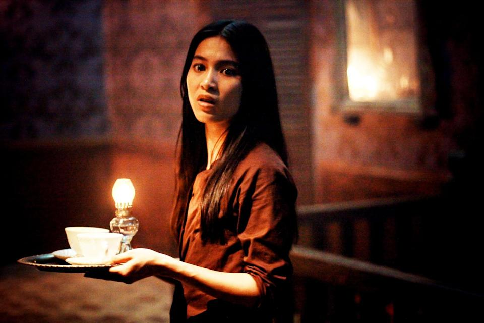 """<p> An orphaned girl is hired to be a housemaid at a rubber plantation and falls in love with the French landlord. Everything seems perfectly fine, until his dead wife's ghost appears.</p> <p> <a href=""""http://www.hulu.com/movie/the-housemaid-53ea3f7f-d81f-45de-b106-ac90dc1efe9e"""" class=""""link rapid-noclick-resp"""" rel=""""nofollow noopener"""" target=""""_blank"""" data-ylk=""""slk:Watch The Housemaid on Hulu."""">Watch <strong>The Housemaid</strong> on Hulu.</a> </p>"""