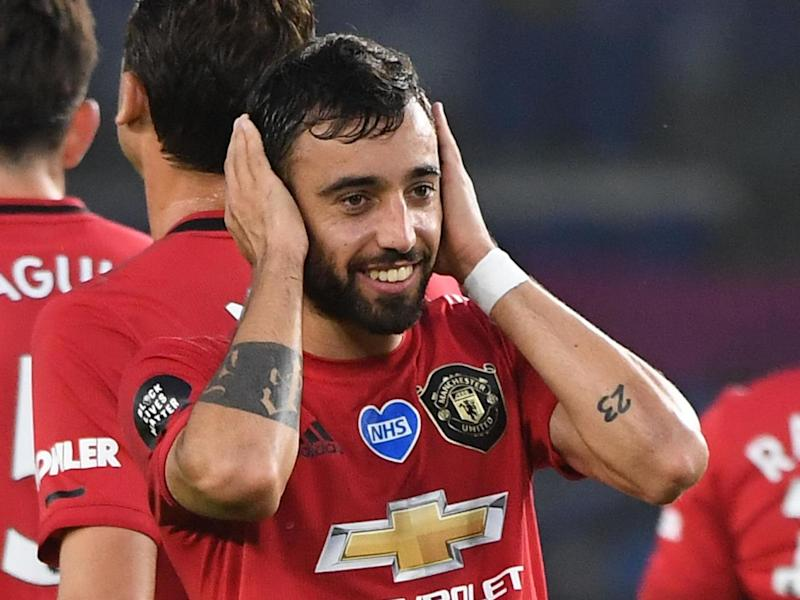 Manchester United playmaker Bruno Fernandes: POOL/AFP via Getty Images