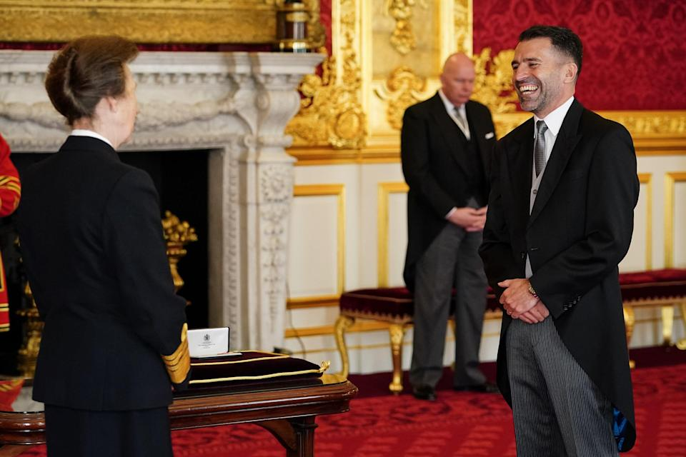 Francis Benali chats to the Princess Royal during the ceremony (Aaron Chown/PA) (PA Wire)