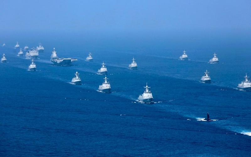 Chinese naval vessels in the South China Sea last year - Xinhua