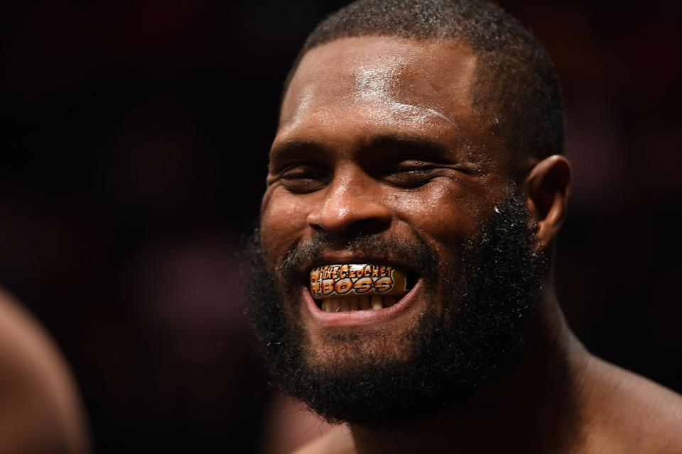 MINNEAPOLIS, MN - JUNE 29:  Maurice Greene prepares to enter the Octagon prior to facing Junior Albini of Brazil in their heavyweight bout during the UFC Fight Night event at the Target Center on June 29, 2019 in Minneapolis, Minnesota. (Photo by Josh Hedges/Zuffa LLC/Zuffa LLC via Getty Images)