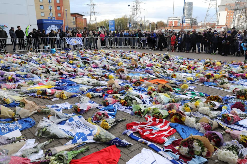 Tributes are paid to the Leicester owner and victims of the helicopter crash (SWNS)