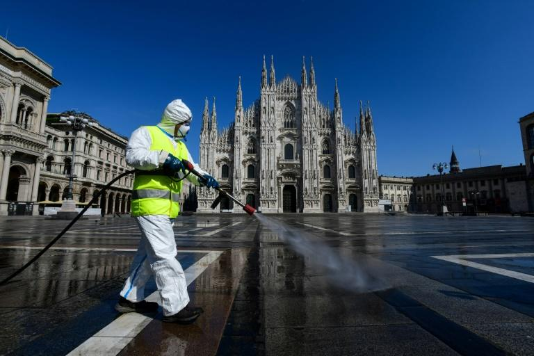 The northern Lombardy region that includes the financial capital Milan turned into the global epicentre of the pandemic when Italy overtook China's official death toll on March 19 (AFP Photo/Piero Cruciatti)