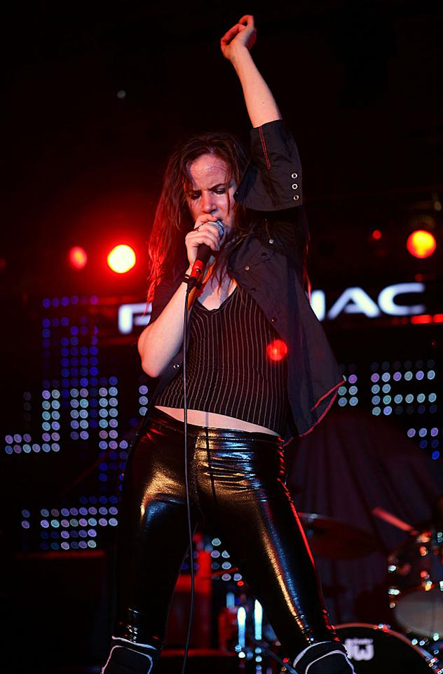 """Actress-turned-singer Juliette Lewis rocks out with her band Juliette and the Licks at 944 Magazine's Super Village. Shea Walsh/<a href=""""http://www.wireimage.com"""" target=""""new"""">WireImage.com</a> - February 1, 2008"""