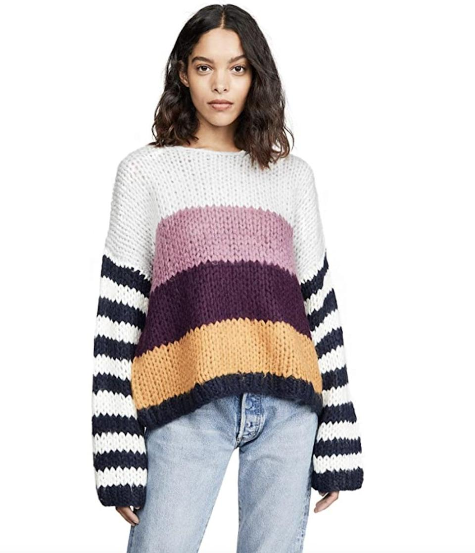 <p>We're drawn to the colorful blocks of this <span>BLANKNYC Striped Sweater</span> ($66). It's a playful way to inject color into your wardrobe, without letting it take over completely.</p>