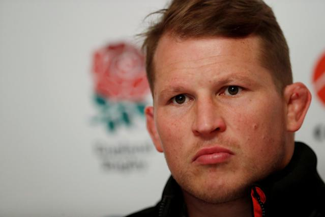 FILE PHOTO: Rugby Union - England Press Conference - Bagshot, Britain - February 2, 2018 England's Dylan Hartley during the press conference Action Images via Reuters/Andrew Boyers/File Photo