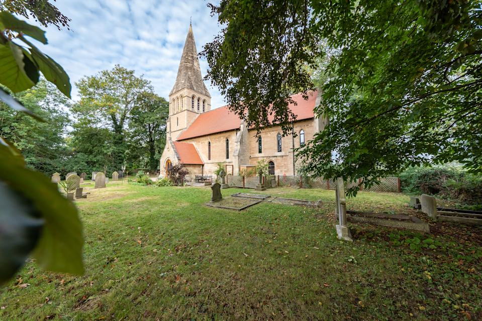 The church is next to a graveyard which the current owners maintain. (Simon Blyth Estate Agents, Kirkburton via OnTheMarket)