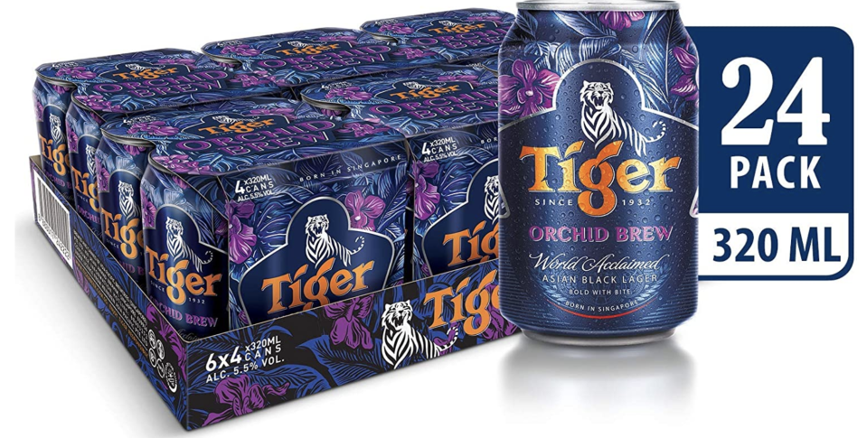Tiger Orchid brew can limited edition, 320ml (Pack of 24), S$72. PHOTO: Amazon