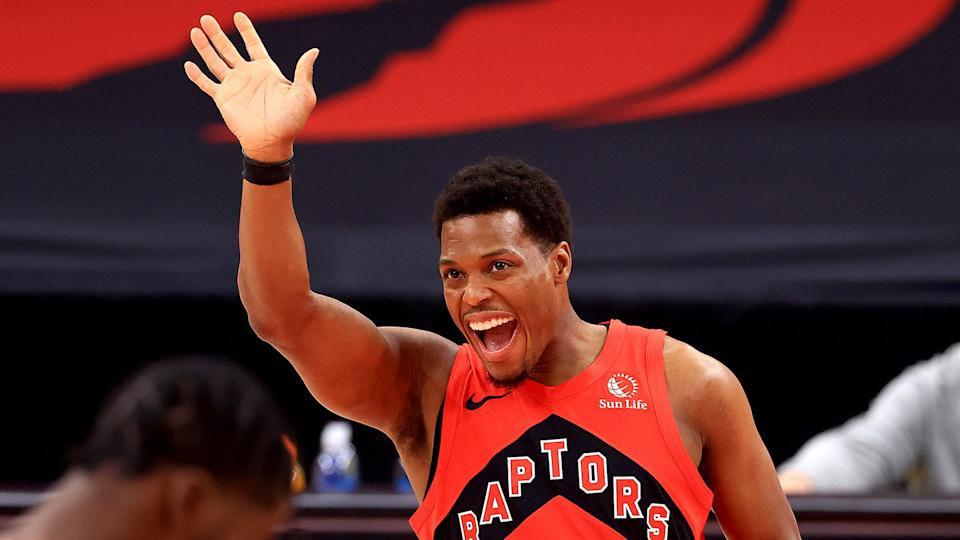 Hey! Yes, you. Subscribe to the Raptors Reaction newsletter using the link below. (Photo by Mike Ehrmann/Getty Images)